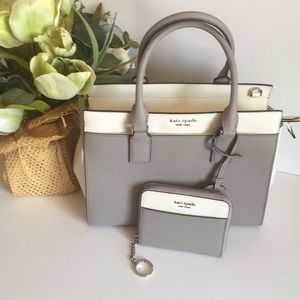 Kate spade Cameron satchel with mini match wallet